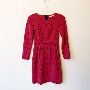 Boden Pink Circular Pattern A-line Dress